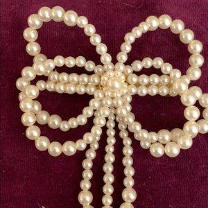 Vintage Accessories - Pearl Hair Barrette & Comb Set Vintage